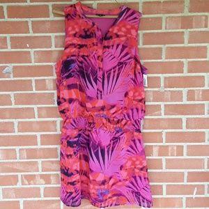 A new approach tropical print neon dress size XL